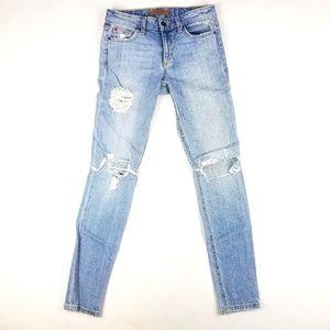 Womens Joe's Skinny Ankle Distressed Jeans Size 25
